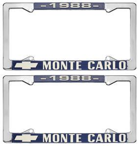 "1988 License Plate Frame, ""Monte Carlo"""