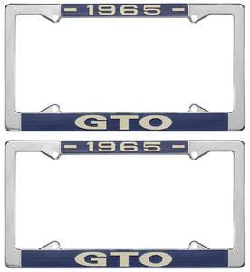 "License Plate Frames, ""GTO"" Custom"
