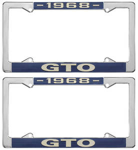 "1968 License Plate Frames, ""GTO"" Custom"