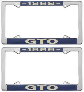 "License Plate Frames, ""GTO"" Custom"