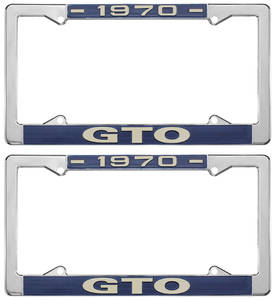 "1970 License Plate Frames, ""GTO"" Custom"