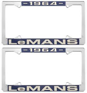 "1964 License Plate Frames, ""LeMans"" Custom, by RESTOPARTS"
