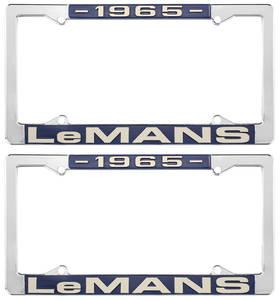 "1965-1965 LeMans License Plate Frames, ""LeMans"" Custom, by RESTOPARTS"