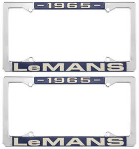 "1965 License Plate Frames, ""LeMans"" Custom, by RESTOPARTS"