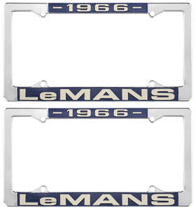 "1966 License Plate Frames, ""LeMans"" Custom, by RESTOPARTS"