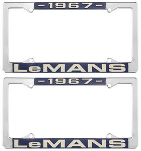 "1967 License Plate Frames, ""LeMans"" Custom, by RESTOPARTS"