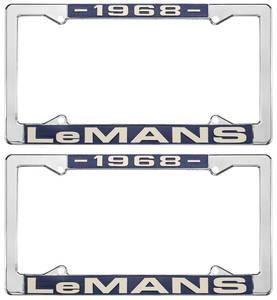 "1968-1968 LeMans License Plate Frames, ""LeMans"" Custom, by RESTOPARTS"