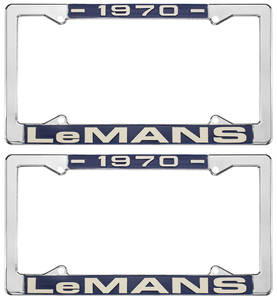 "1970-1970 LeMans License Plate Frames, ""LeMans"" Custom, by RESTOPARTS"