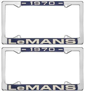 "1970 License Plate Frames, ""LeMans"" Custom, by RESTOPARTS"
