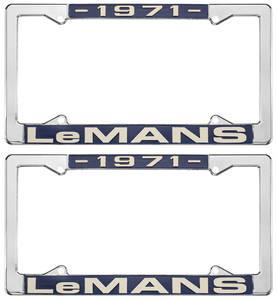 "1971-1971 LeMans License Plate Frames, ""LeMans"" Custom, by RESTOPARTS"
