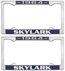 1964-1964 Skylark License Plate Frames, 1964-72 Skylark, by RESTOPARTS