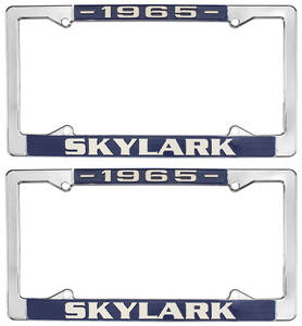 License Plate Frames, 1964-72 Skylark