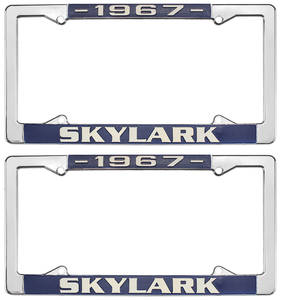 License Plate Frames, 1964-72 Skylark, by RESTOPARTS