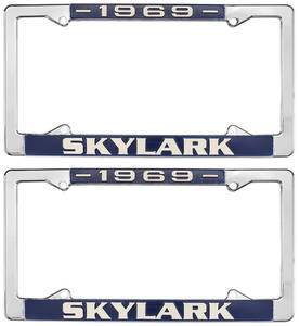 1969-1969 Skylark License Plate Frames, 1964-72 Skylark, by RESTOPARTS