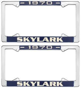 1970-1970 Skylark License Plate Frames, 1964-72 Skylark, by RESTOPARTS