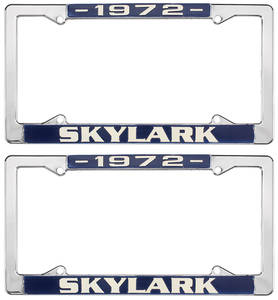 1972-1972 Skylark License Plate Frames, 1964-72 Skylark, by RESTOPARTS