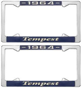 """1964 License Plate Frames, """"Tempest"""" Custom"""