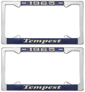 """1965-1965 Tempest License Plate Frames, """"Tempest"""" Custom, by RESTOPARTS"""