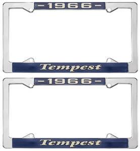 """License Plate Frames, """"Tempest"""" Custom"""