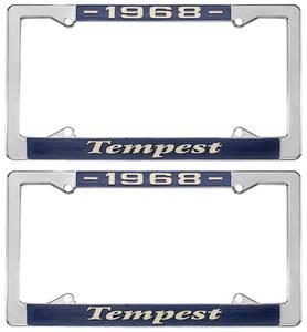 """1968 License Plate Frames, """"Tempest"""" Custom"""
