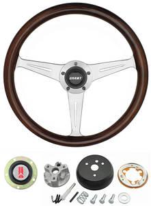 1964-1966 Cutlass Steering Wheels, Mahogany 3-Spoke w/o Tilt, by Grant