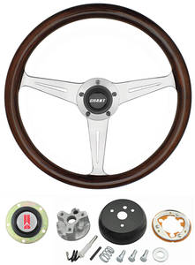 1964-66 Cutlass Steering Wheels, Mahogany 3-Spoke w/o Tilt, by Grant