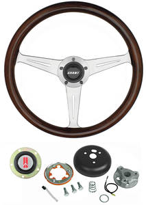 1969-77 Cutlass Steering Wheels, Mahogany 3-Spoke Standard Column, by Grant
