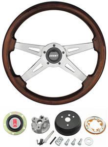 1967-1967 Cutlass Steering Wheels, Mahogany 4-Spoke All, by Grant
