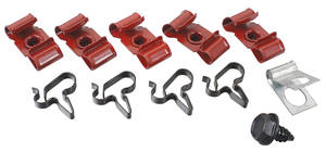 1964-1966 Cutlass Brake Line Clips, Original Style 9 Pieces