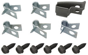 "1970 Cutlass Fuel Line Clips, Original Style Without Return Line 3/8"" (12-Pcs.)"