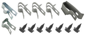 "1970 Cutlass Fuel Line Clips, Original Style With Return Line 3/8"" (14-Pcs.)"