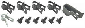 "1971-72 Cutlass Fuel Line Clips, Original Style Without Return Line 3/8"" w/o Vapor Return (12-Pcs.)"