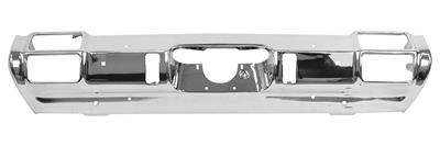 1971-1972 Cutlass Bumper, Chrome Rear Cutlass, w/Holes for Bumper Guards, by RESTOPARTS