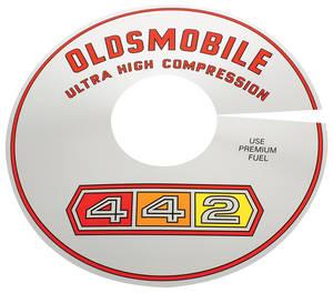 1965-67 Cutlass Air Cleaner Top Plate 4-4-2