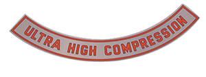 1965-67 Cutlass Air Cleaner Top Plate 4-BBL Ultra High Comp. – Silver