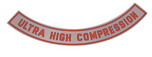 1965-67 Cutlass/442 Air Cleaner Top Plate 4-BBL Ultra High Comp. – Silver