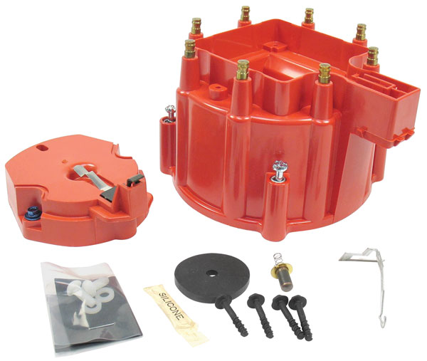 Photo of Distributor Accessory, Flame-Thrower HEI Cap And Rotor GM HEI (red)