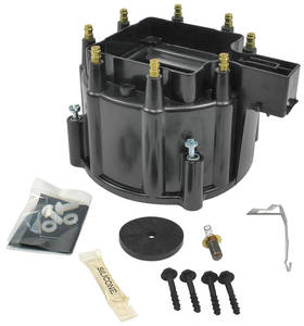 1978-88 El Camino Distributor Accessory, Flame-Thrower HEI Distributor Cap HEI (Black), by PERTRONIX