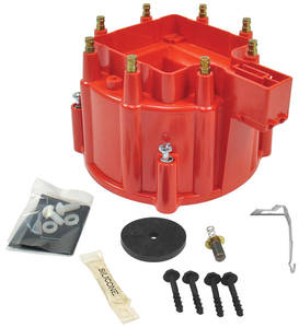 1964-77 Chevelle Distributor Accessory, Flame-Thrower HEI Hei Distributor Cap (Red)