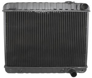 """1965 Cutlass Radiator, Desert Cooler 4-Row 17-3/8"""" X 24-3/4"""" X 2-5/8"""" AT, Passenger Filler"""