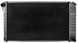 "1968-72 Skylark Radiator, Desert Cooler 4-Row 17"" X 28-3/8"" X 2"" AT, Passenger Filler"