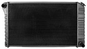 "1972-74 El Camino Radiator, Desert Cooler 4-Row AT, 17"" X 28-3/8"" X 2-5/8"", Passenger Filler, by U.S. Radiator"