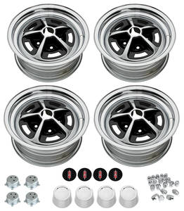 "1966-77 Cutlass/442 Wheel Kits, Oldsmobile Super Stock 14"" X 7"" w/Repro Caps"