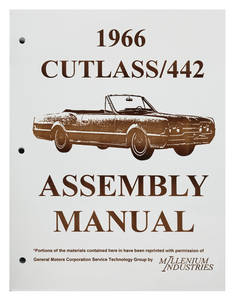 1966 Cutlass Factory Assembly Line Manuals