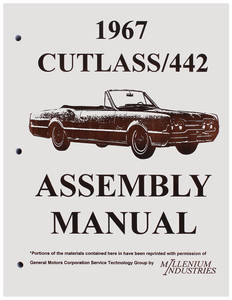 1967 Cutlass Factory Assembly Line Manuals