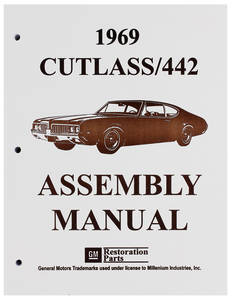 1969-1969 Cutlass Factory Assembly Line Manuals