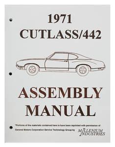 1971-1971 Cutlass Factory Assembly Line Manuals