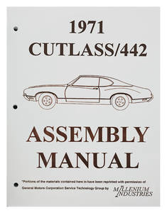 1971 Cutlass Factory Assembly Line Manuals