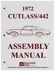 1972-1972 Cutlass Factory Assembly Line Manuals