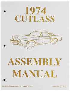 1974-1974 Cutlass Factory Assembly Line Manuals